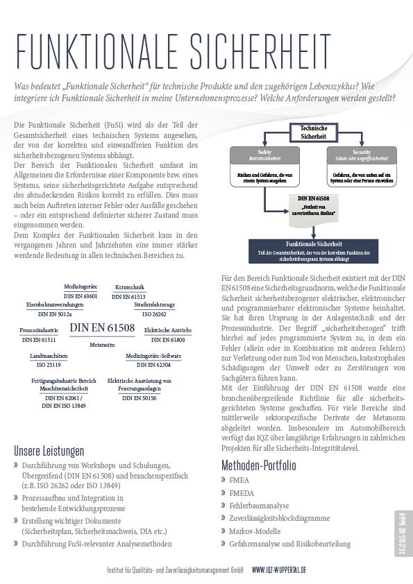 OnePager - IQZ - Institut für Qualitäts- und ...